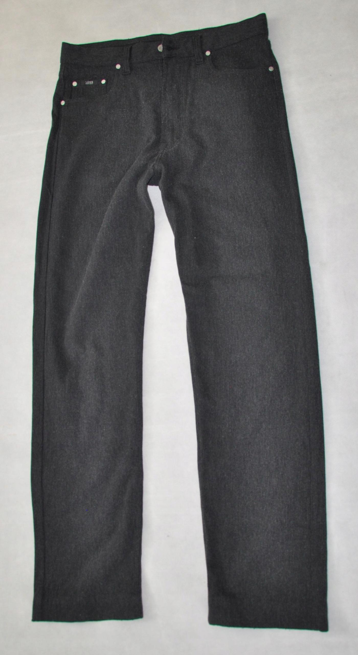 HUGO BOSS ALABAMA spodnie czarne 34/36 88pas