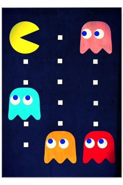 Blacha dekoracyjna / ozdobna Pacman : Rozmiar: - S