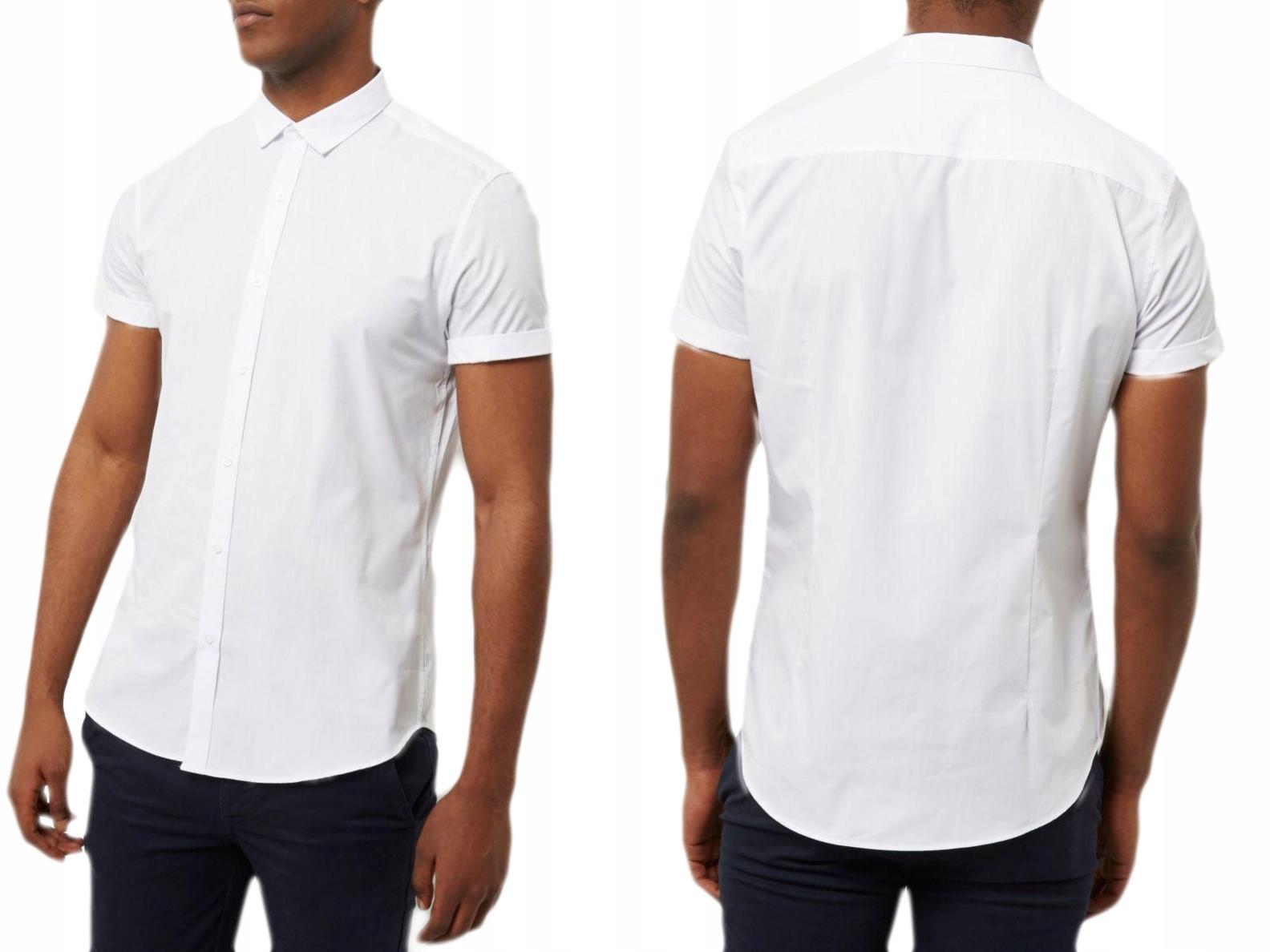 River Island biała gladka koszula XL