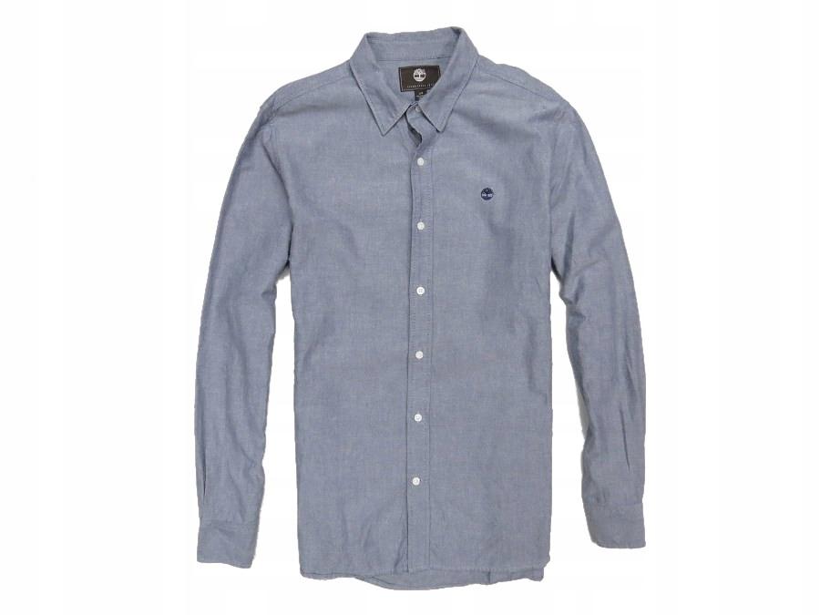 TIMBERLAND koszula gładka męska stalowa L