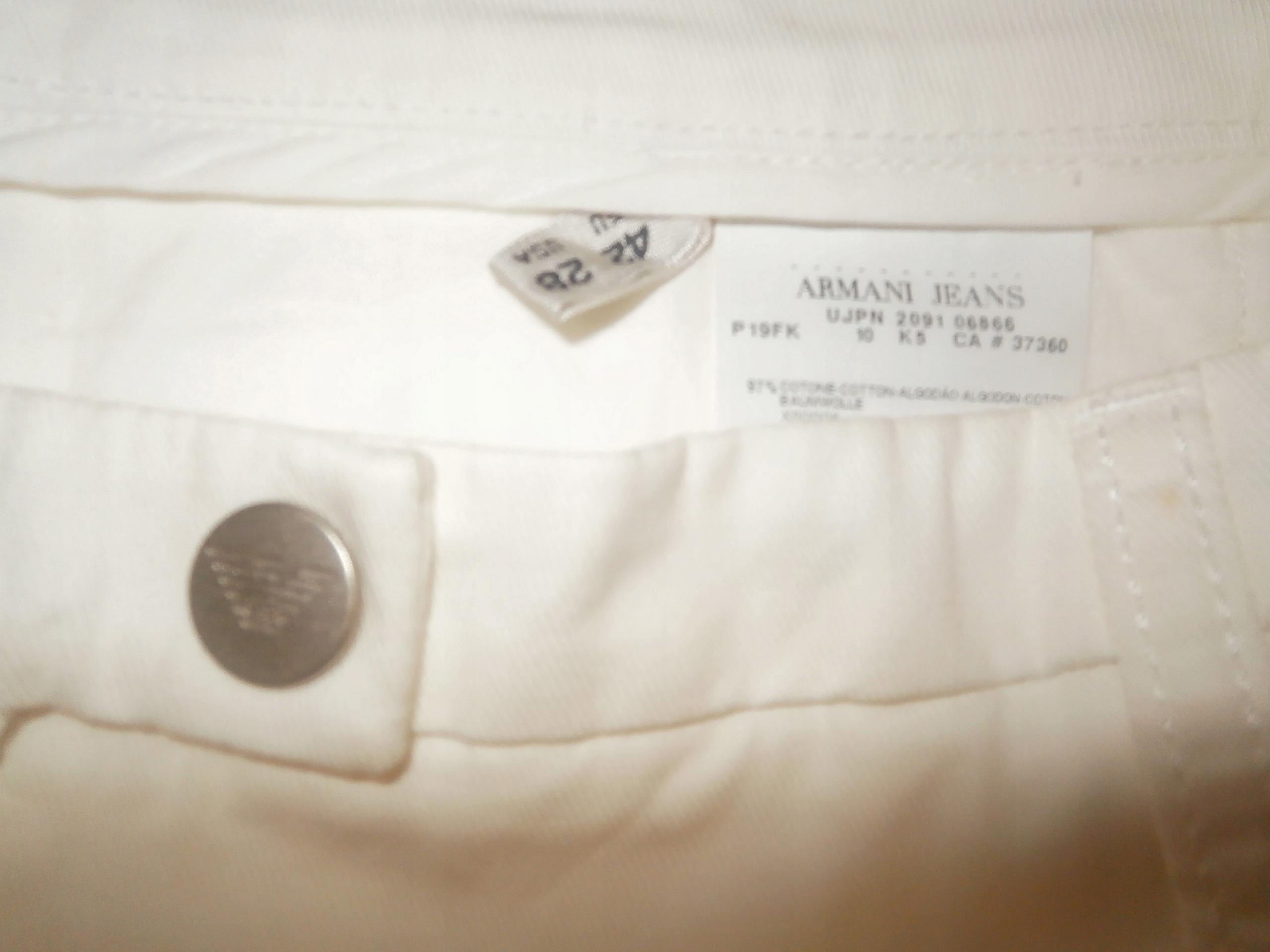 AJ Armani Jeans nowe spodnie z logo 28 EU-42