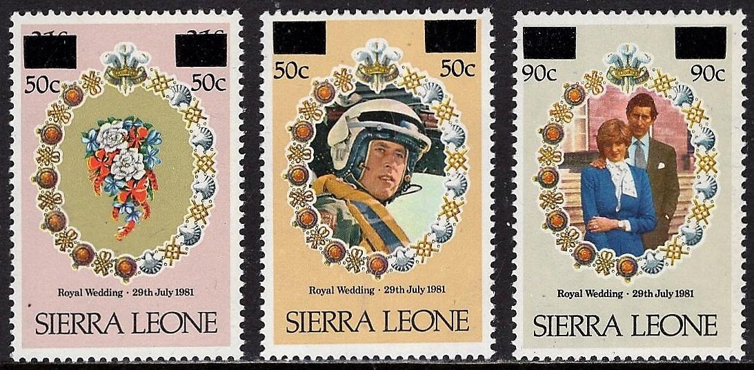 Sierra Leone royal wedding przedruki kpl.czyste **