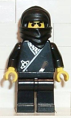 LEGO NINJA cas048 FIGURKA NINJA CZARNY