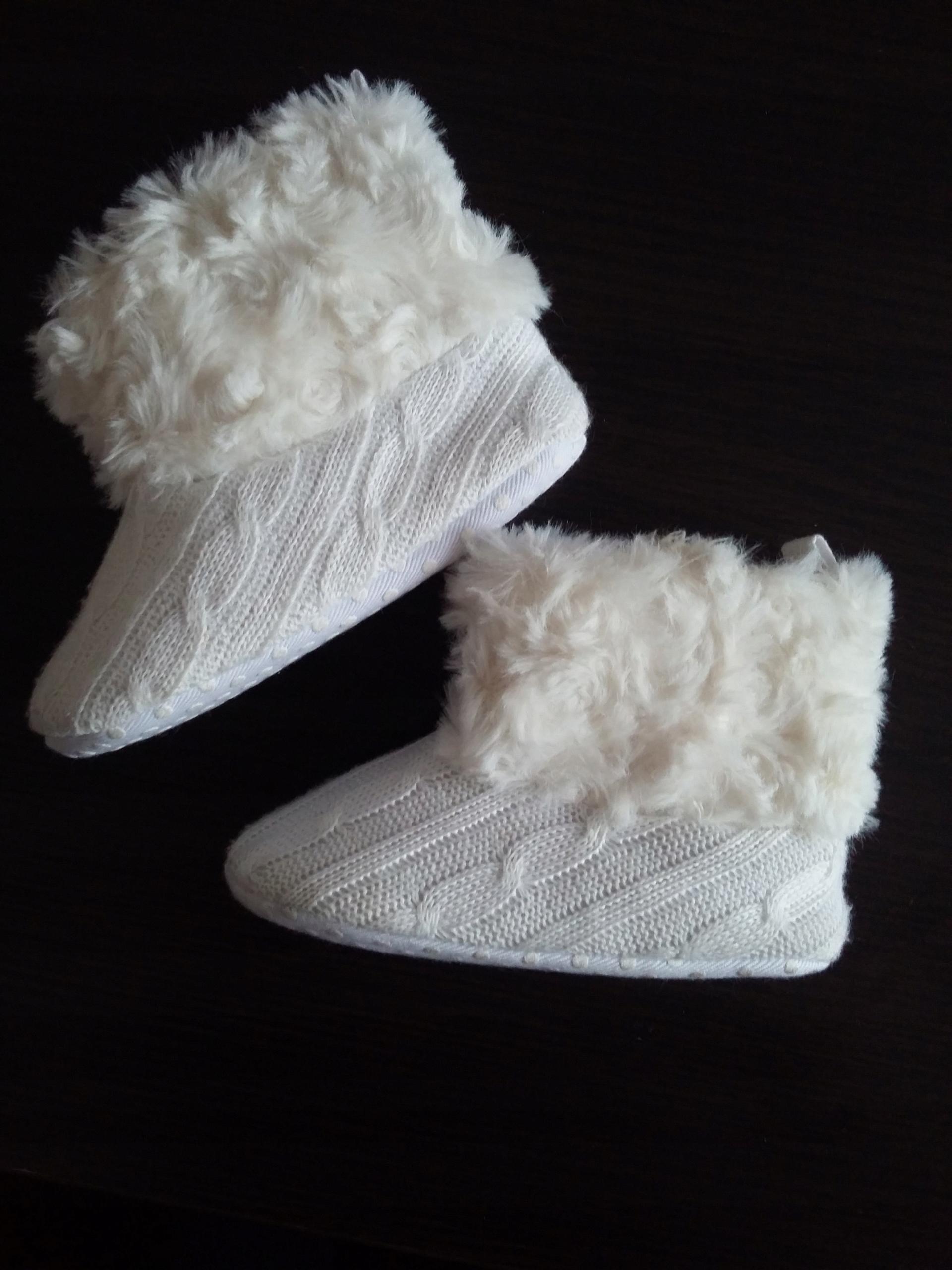 Kozaki na zimę niechodki białe 12,5 cm