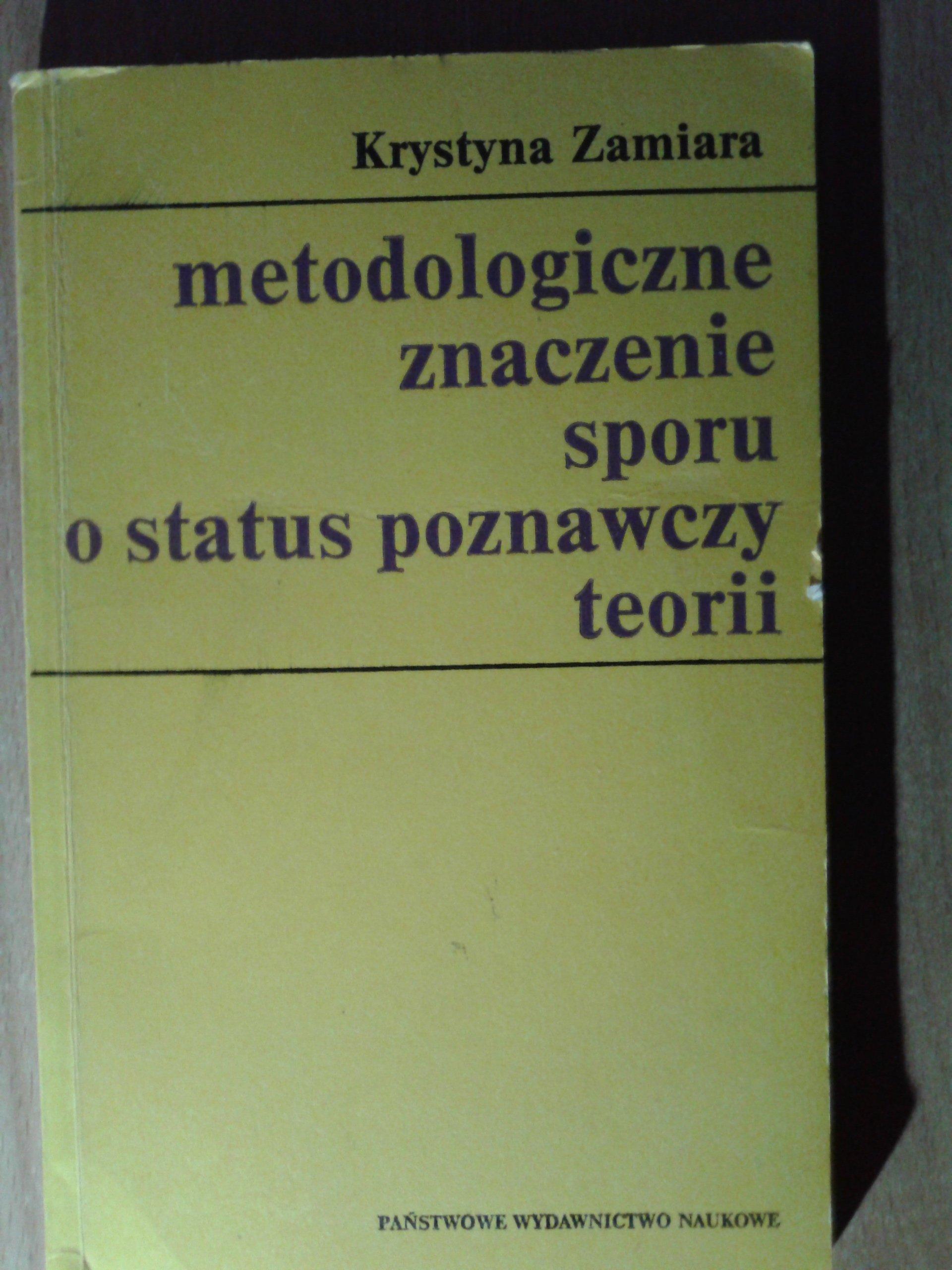 METODOLOGICZNE ZNACZENIE SPORU ZAMIARA