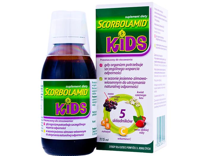 AP Scorbolamid Kids+ dzieci syrop 115 ml 02.2019