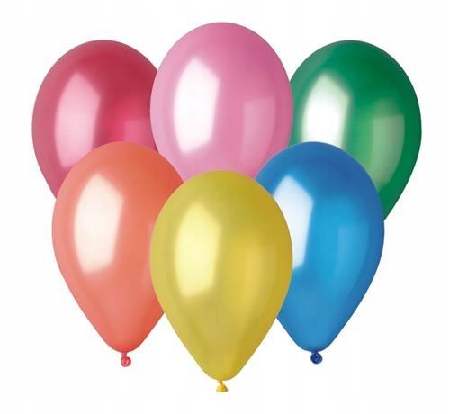 Balony Gemar metal 10cali różnokolorowy 50 sztuk