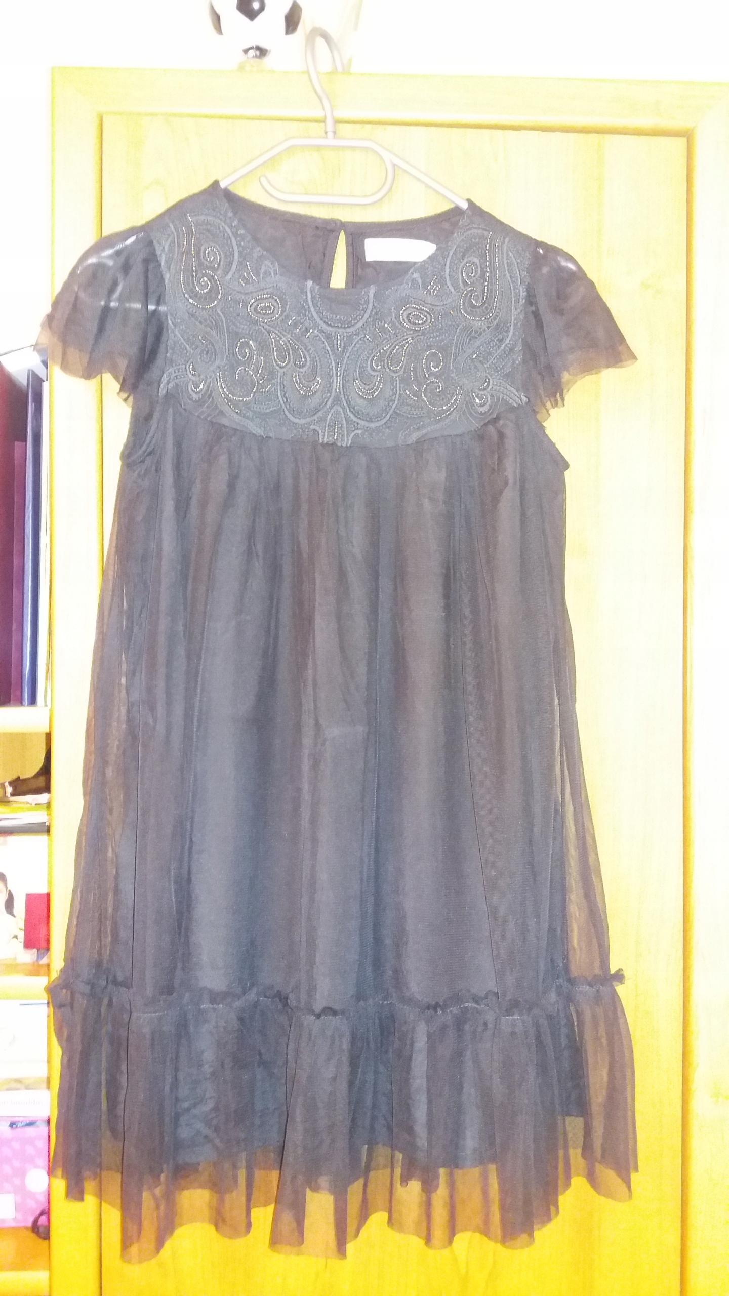 Sukienka szara Zara girl 152 11-12