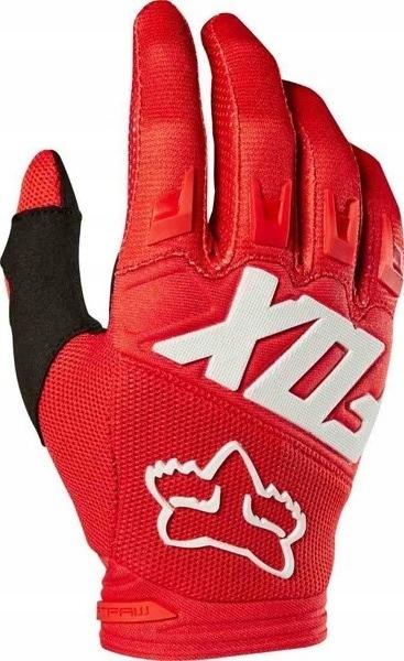 RĘKAWICE MĘSKIE FOX DIRTPAW RACE RED CZERWONE r.XL