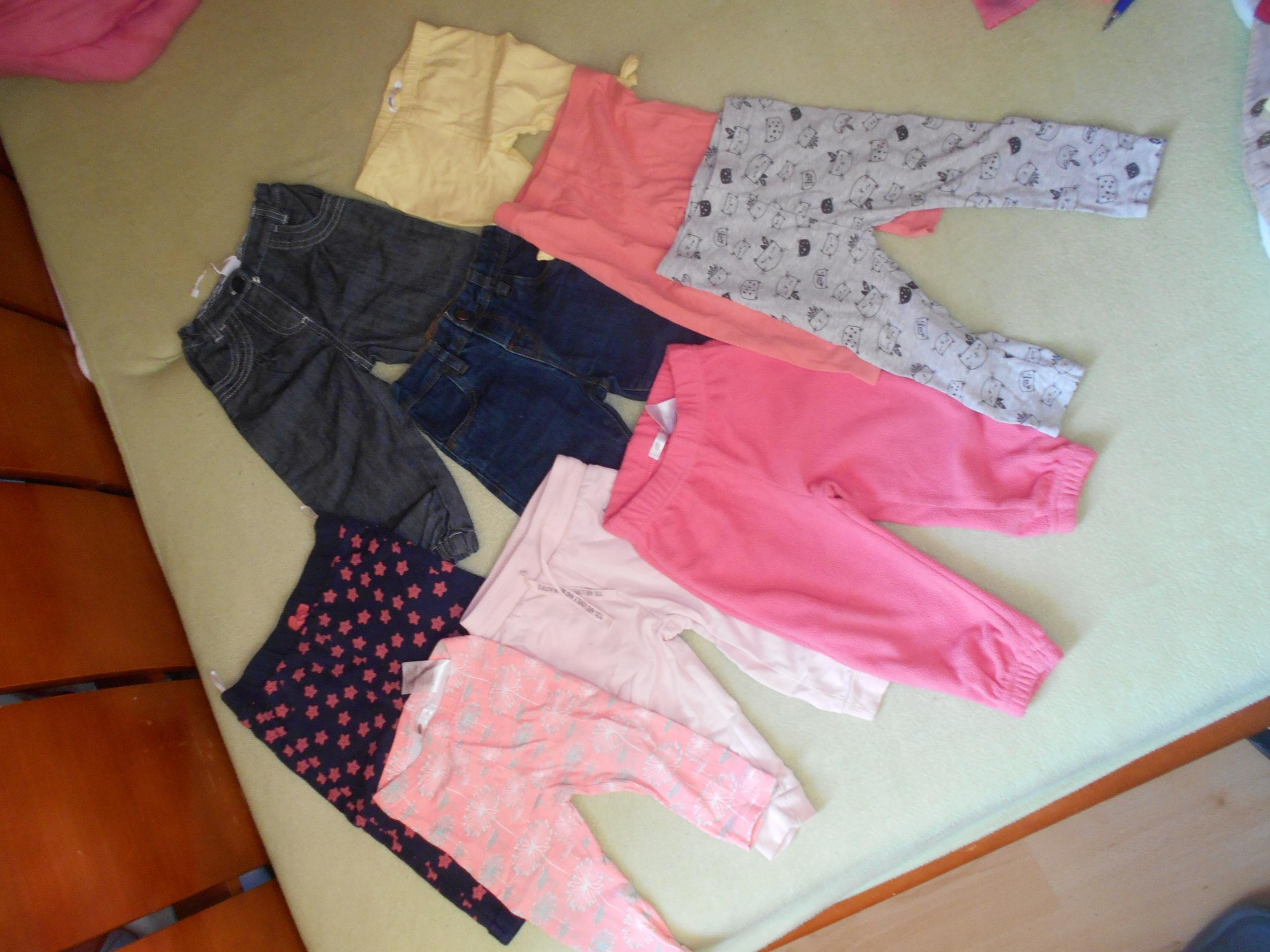 Duży zestaw 20 szt. ubrań dla dziewczynki r. 74-80