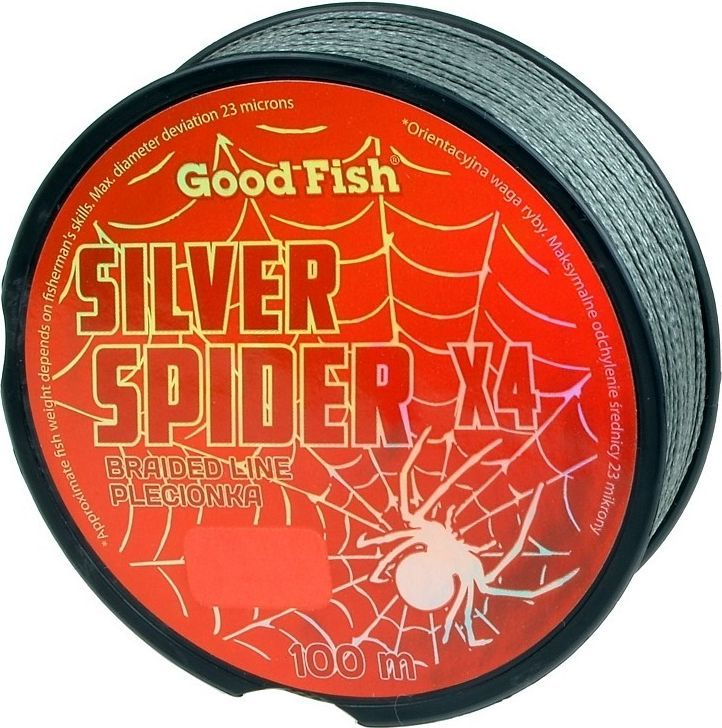 GoodFish Plecionka Silver Spider 0.12 mm 100m (A-5