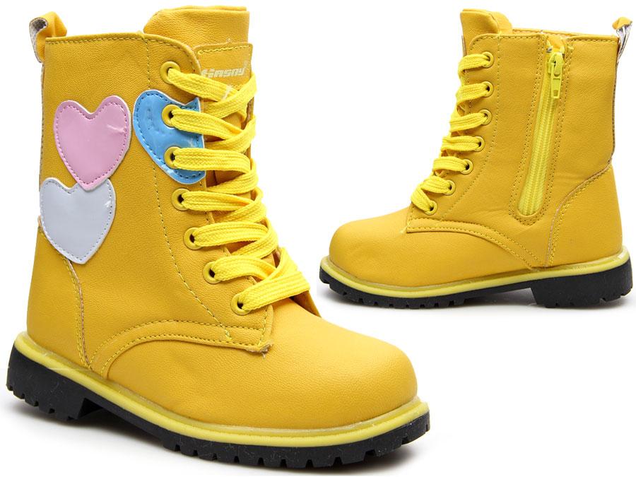 żółte GLANY dziecięce NA SUWAK zimowe HASBY 29