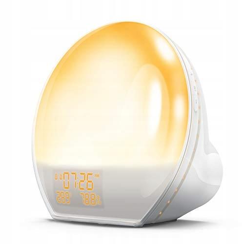 AngLink Wake Up Light radiobudzik z słońcem USB