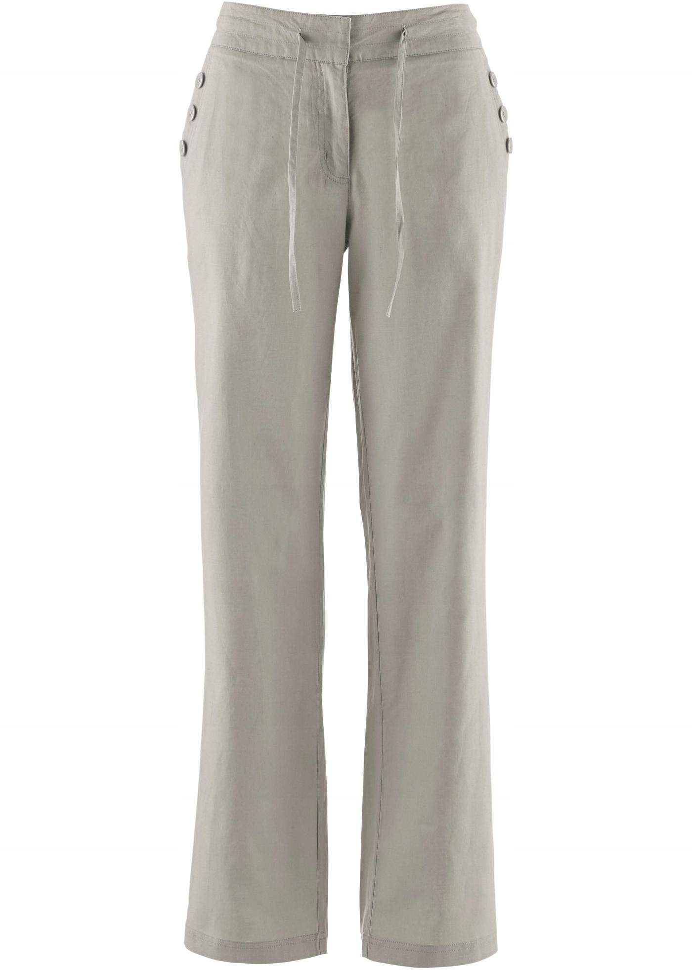 BONPRIX Spodnie Lniane rozm. 56 BPC 7652635554 oficjalne