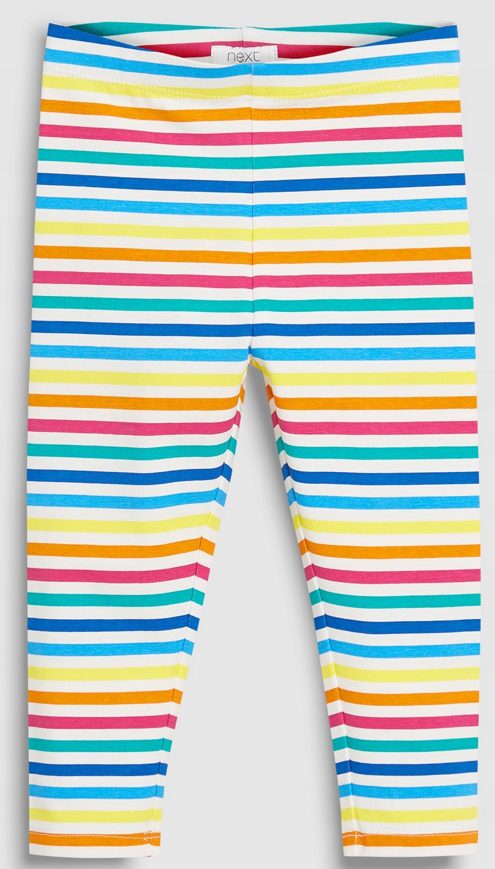 NEXT Legginsy Multi Rainbow Stripe 6-7 L 2019