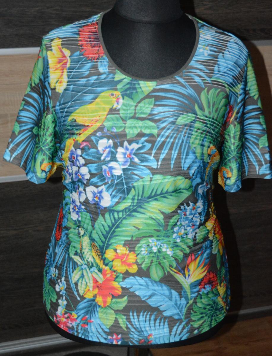 x* Bluzka w kwiaty i papugi 48