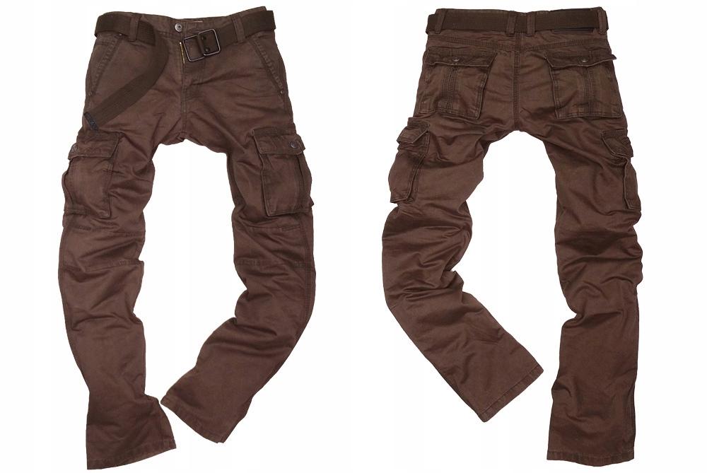ITENO 8813 spodnie bojówki brązowe rozmiar r. 31