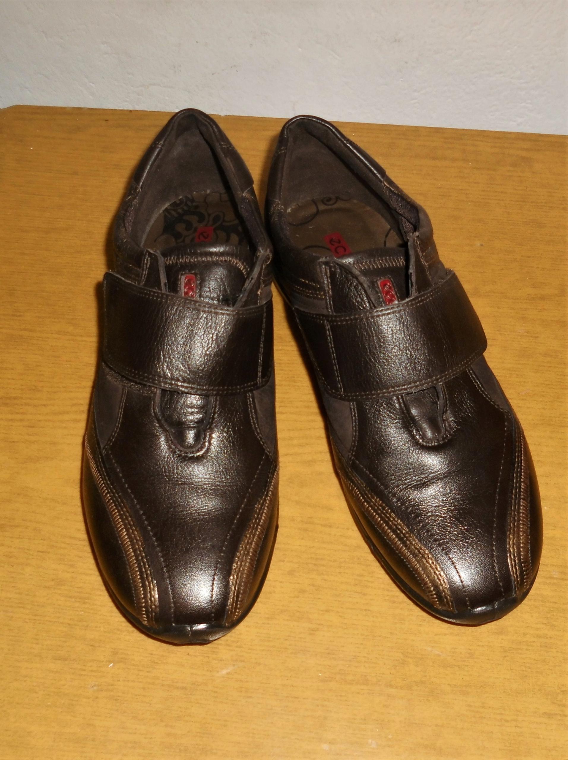 ECCO 38 /24,5 cm/ buty damskie -rzepy
