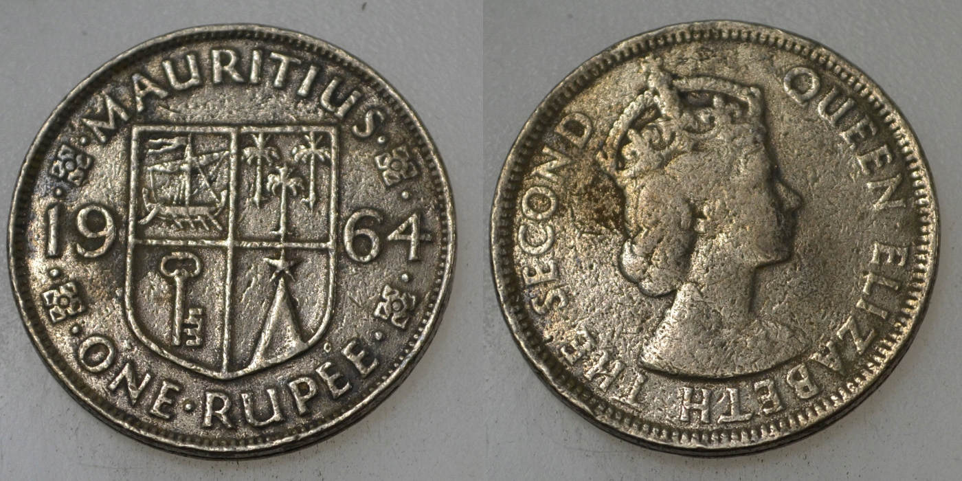 Mauritius 1 Rupia 1964 rok BCM