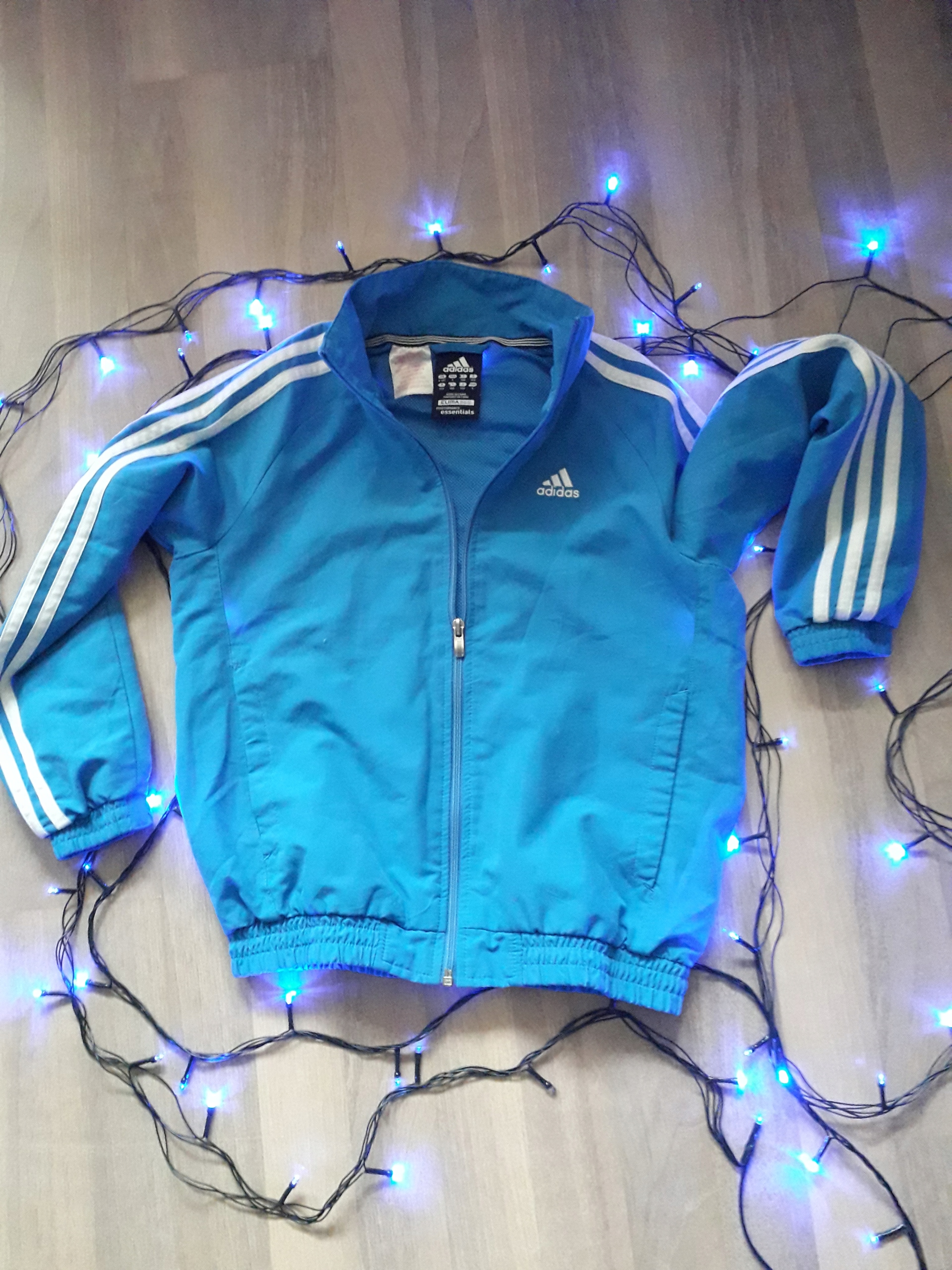 Adidas climalite 9-10y 140cm niebieska kurtka