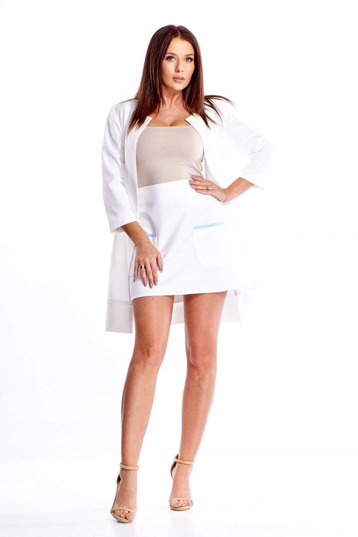 Oryginalny komplet - spódnica i długi żakiet
