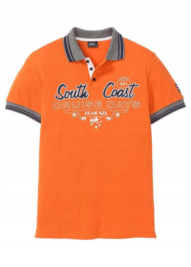 Shirt polo z efekto pomarańczowy 48/50 (M) 958941