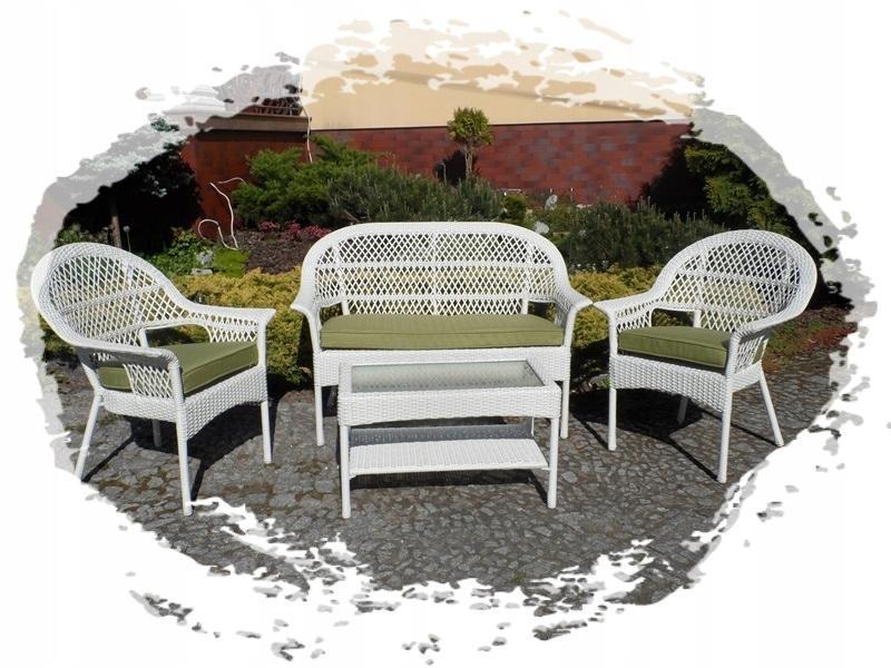 Biały Meble Technorattan Ażurowy Fotel Stylowy 7886760145