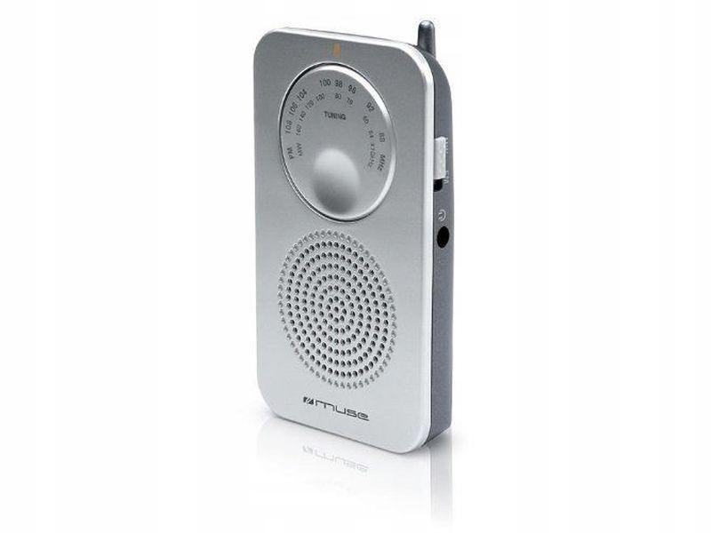 Mini radio przenośne Muse 01RS srebrne BCM