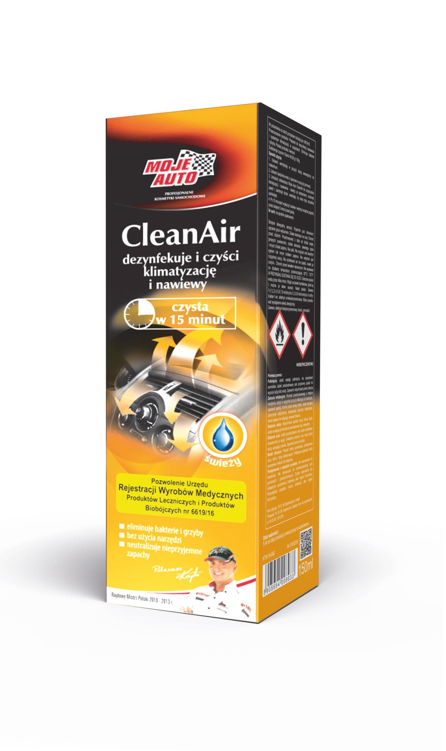 MOJE AUTO CleanAir świeży granat do klimatyzacji