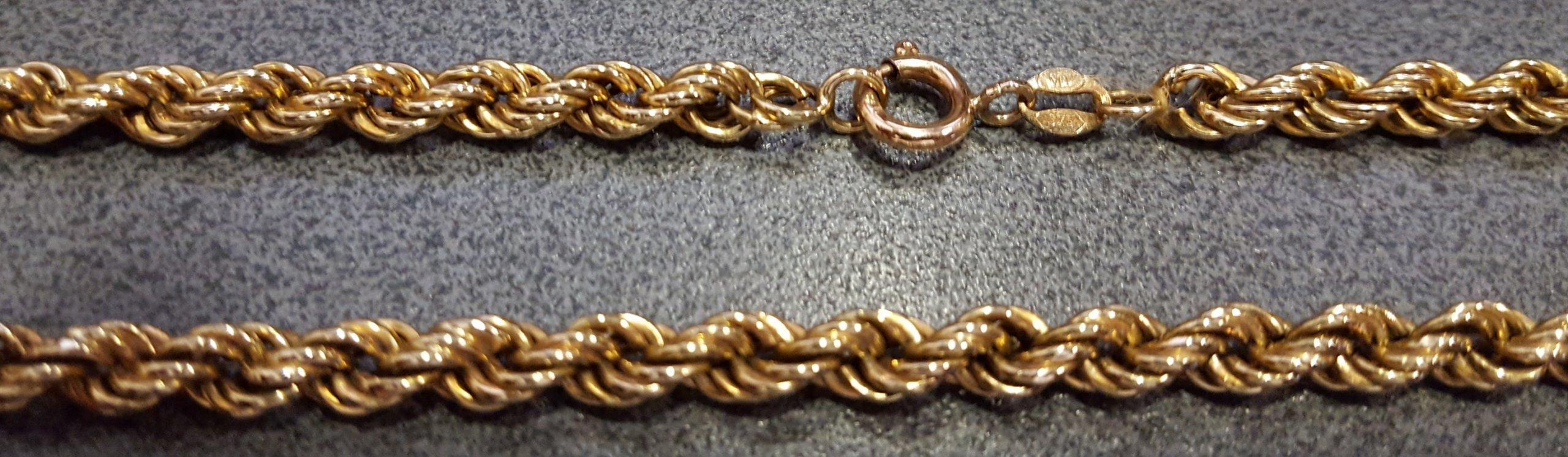 Złoty łańcuszek pr.0.375 waga 9.35g
