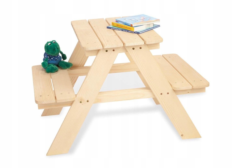 Pinolino Drewniany Stół i ławka dla dzieci