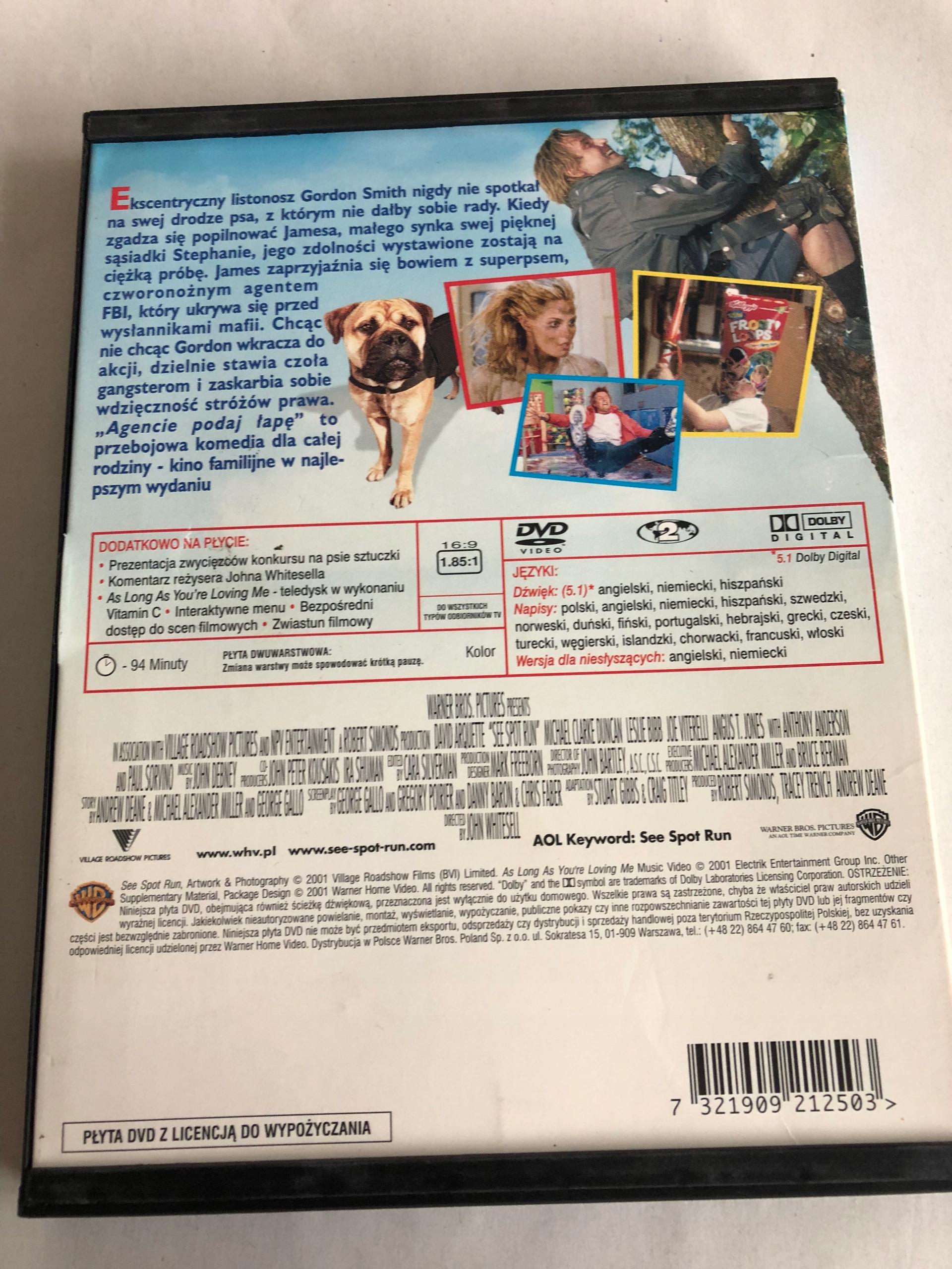 AGENCIE PODAJ ŁAPĘ DVD F52 - 7691761646 - oficjalne archiwum