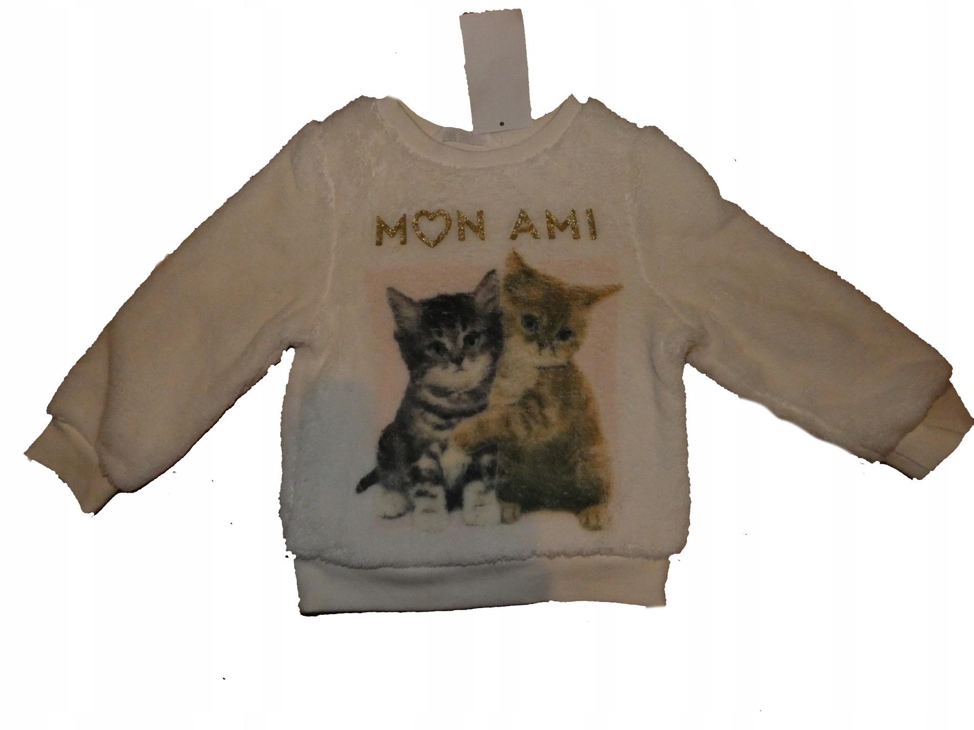 H&M Bluza w Kotki roz 122-128