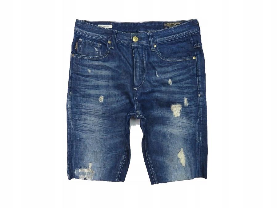 JACK JONES krótkie spodenki jeansowe DESTROYED 83
