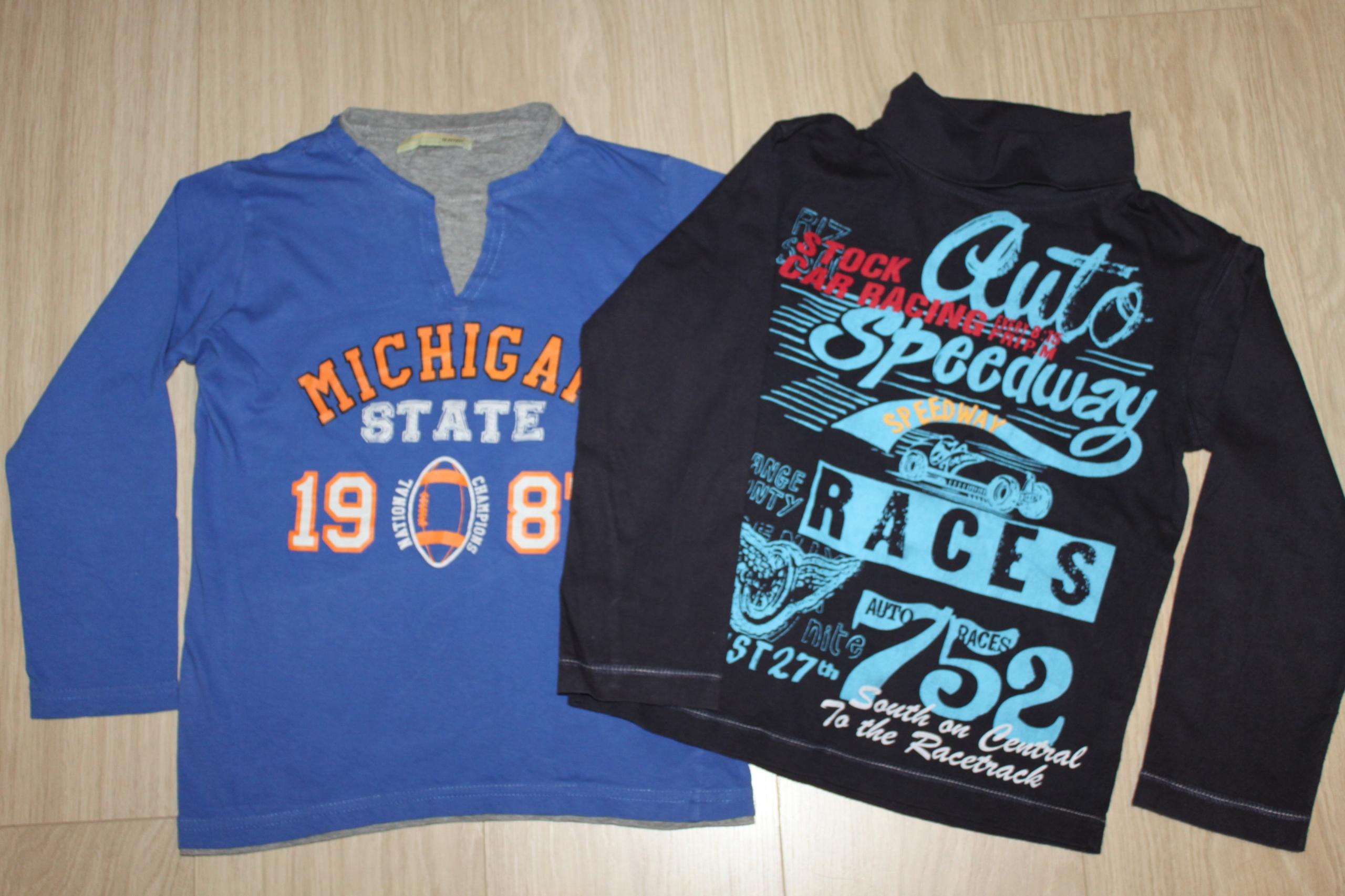 2 x bluzki długi rękaw CoolClub 122 /128 +3.gratis