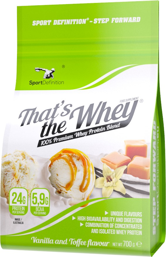SPORT DEFINITION THAT'S THE WHEY - 700g Wan. toffe
