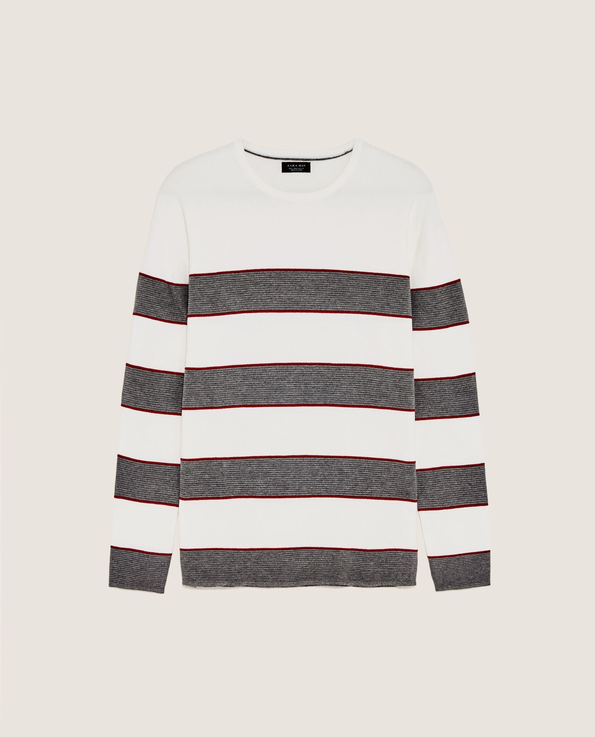 ZARA meski sweter w pasy rozm S