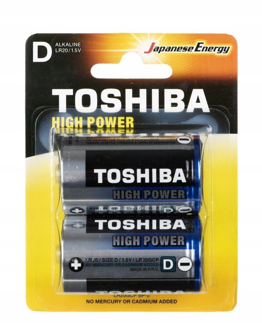 Baterie alkaliczne Toshiba LR20GCP BP-2 (Alkaliczn