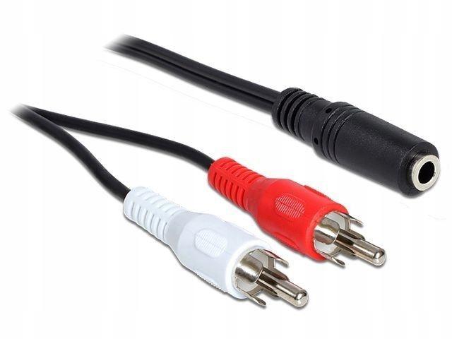 Delock Kabel stereo 2x chinch - 3Pin Stereo Jack 1