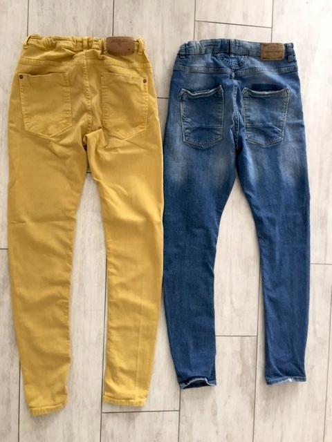 Spodnie ZARA i MANGO r.164
