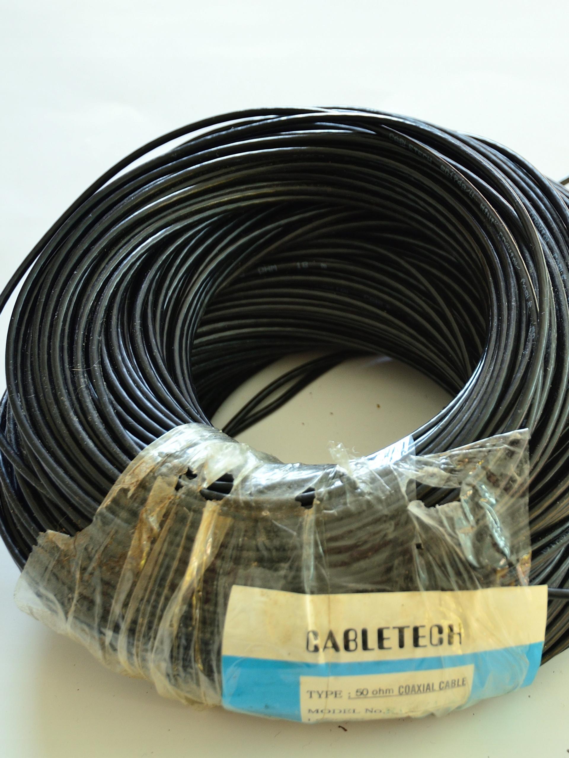 Kabel koncentryczny 50ohm RG174 CABLETECH 100m