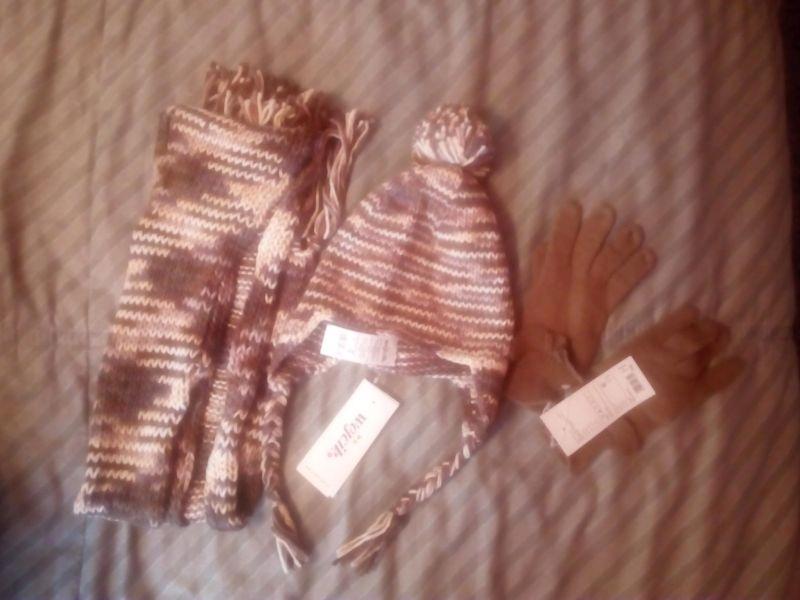 nowy komplet wójcik czapka szalik rękawice 158