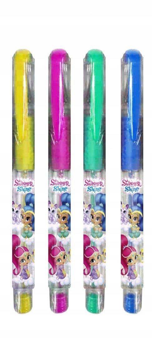 Zestaw błyszczących długopisów Shimmer i Shine