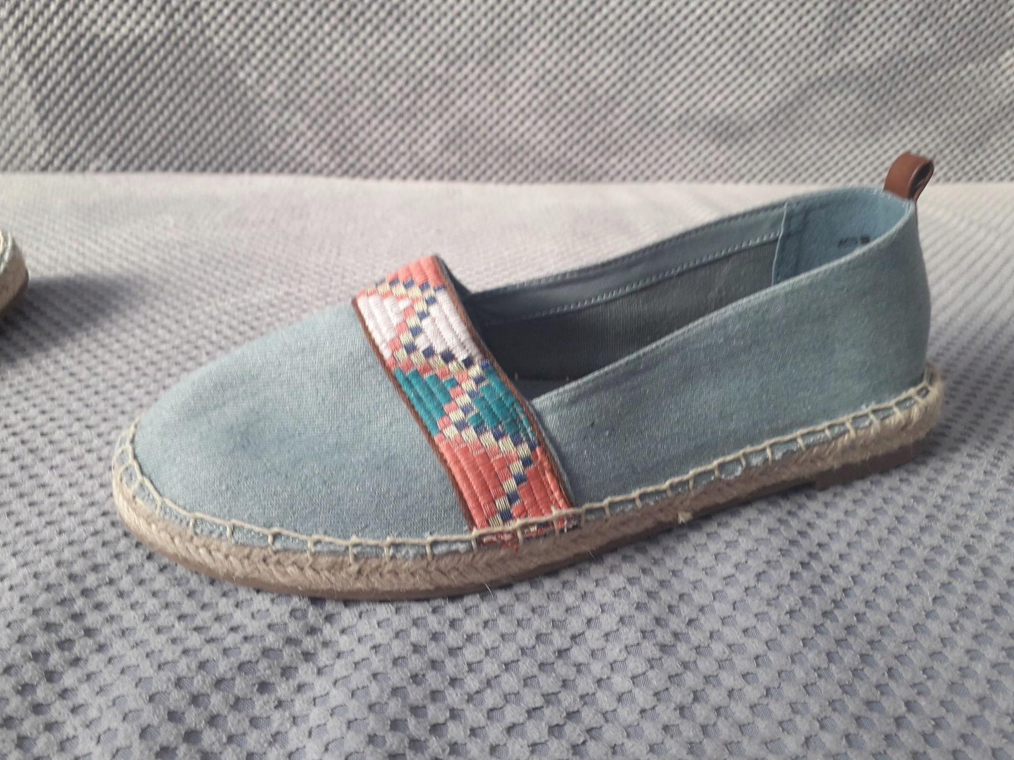 Buty Espadryle dżins azteckie 41 Deichmann