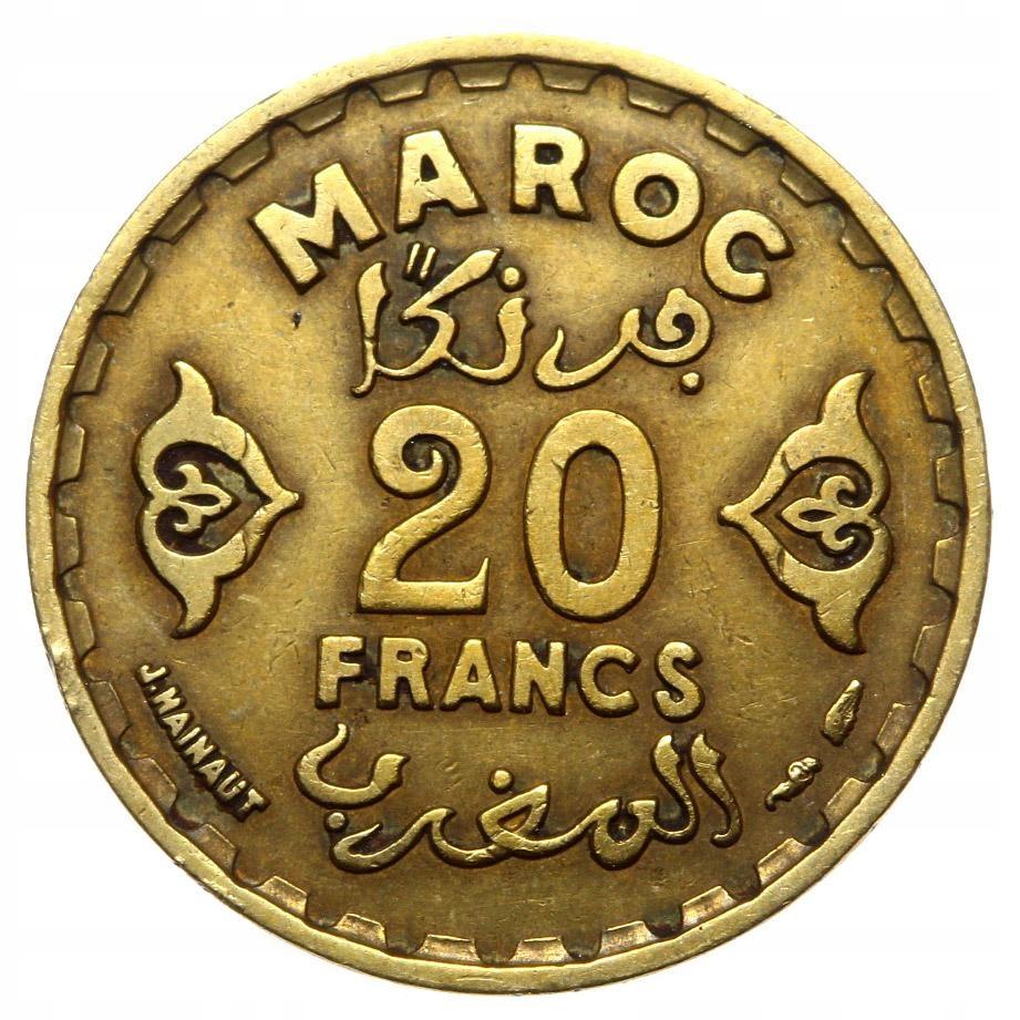 Maroko - moneta - 20 Franków 1952
