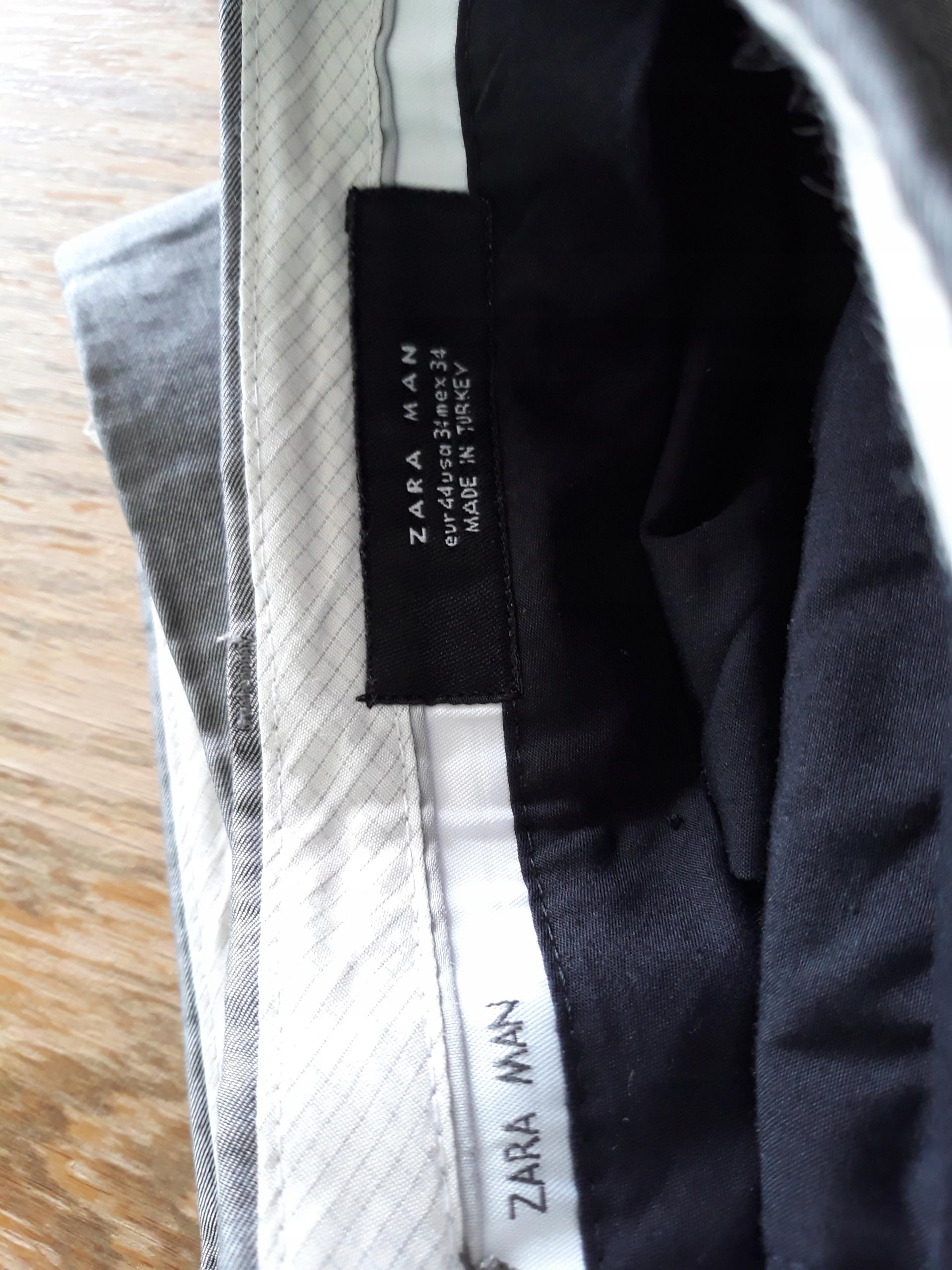 Garnitur męski Zara Man srebrny rozmiar XL