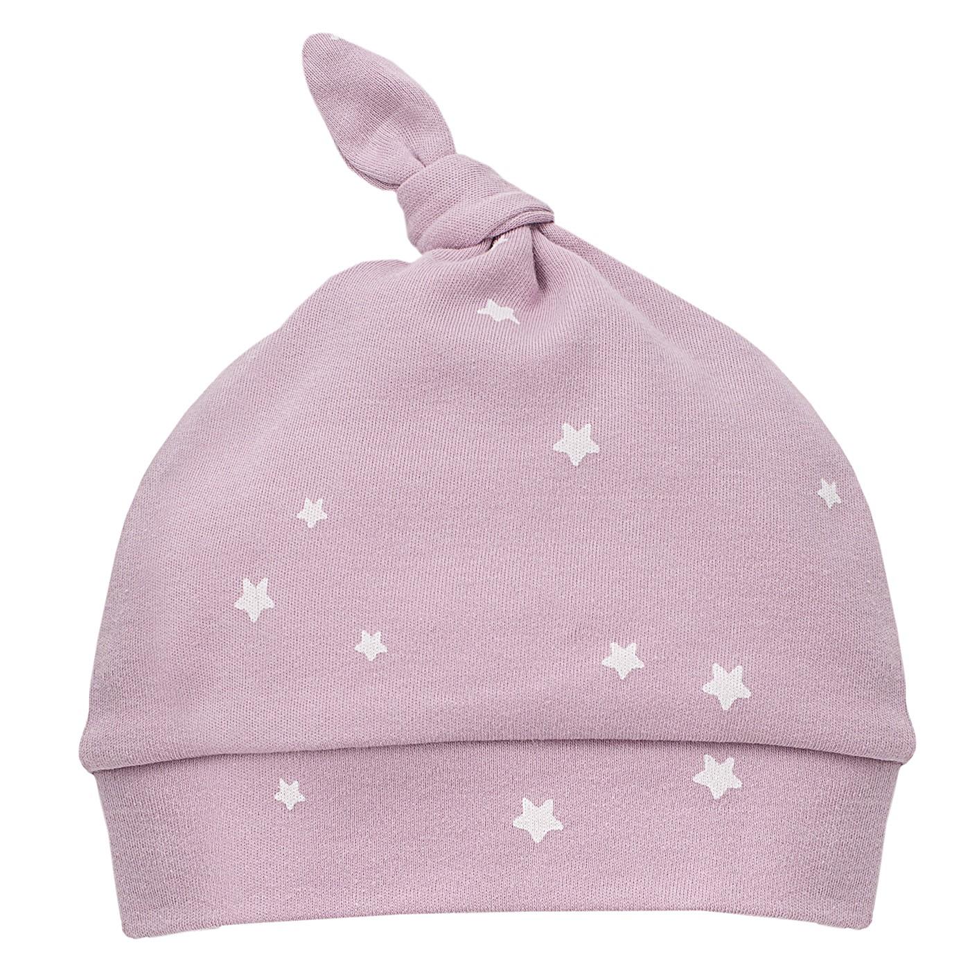 PINOKIO czapka Unicorn wrzosowa w gwiazdki 56