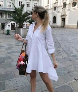 Zara sukienka tunika koszulowa popelinowa M L 38