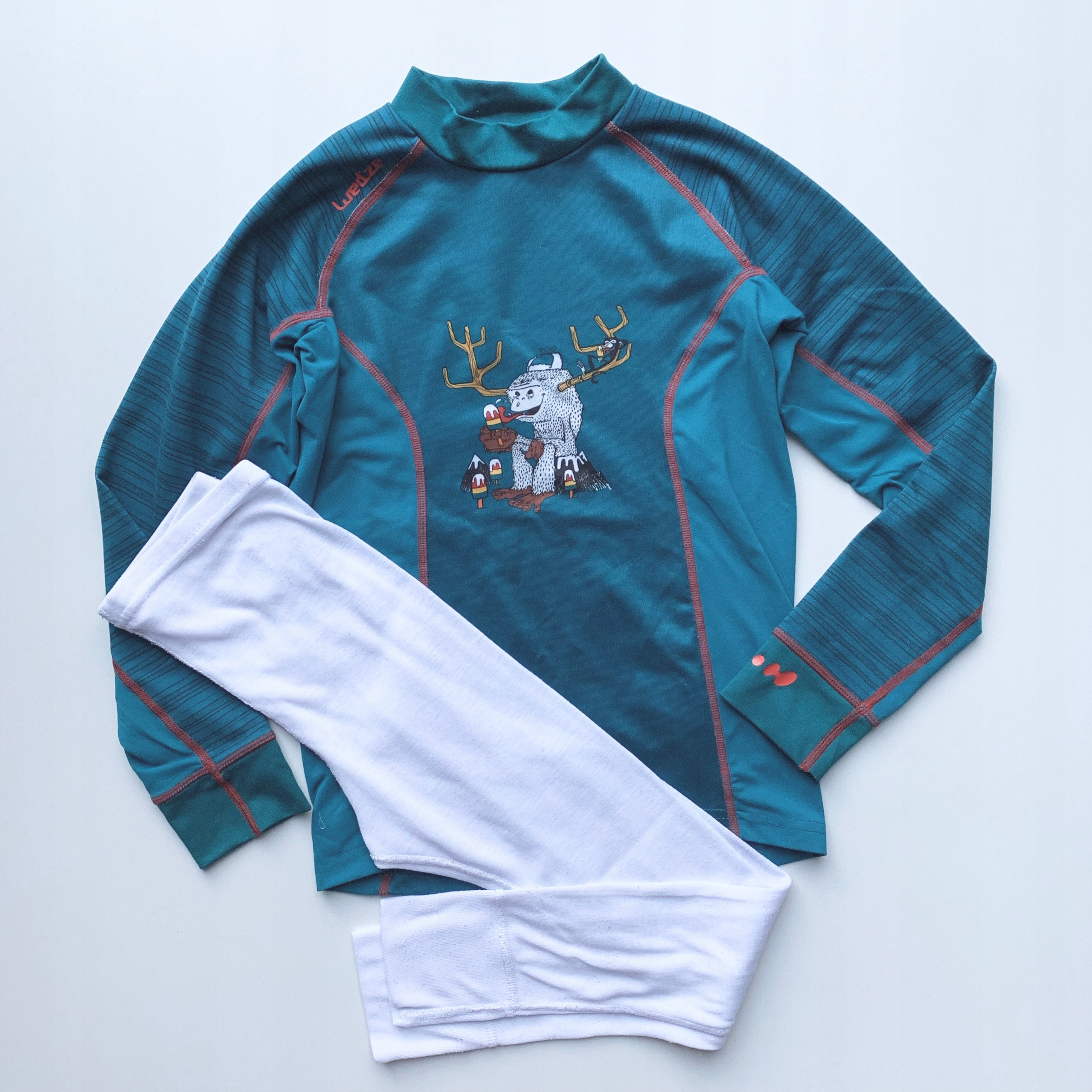 Zestaw zimowy, termiczna koszulka i legginsy 6/7l