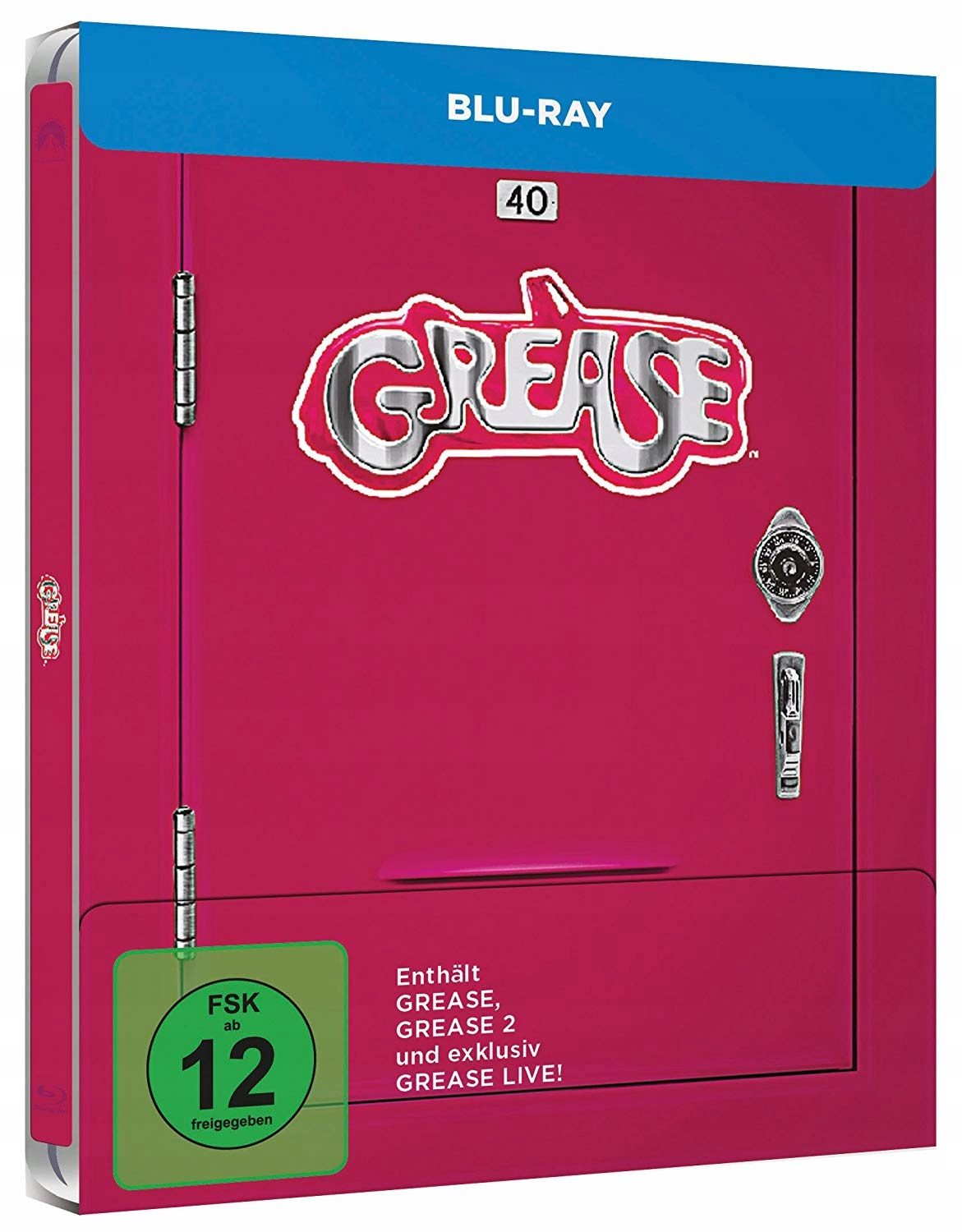 Grease+Grease 2+Grease Live! PL Blu-ray STEELBOOK